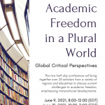 Academic Freedom in a Plural World:  Global Critical Perspectives