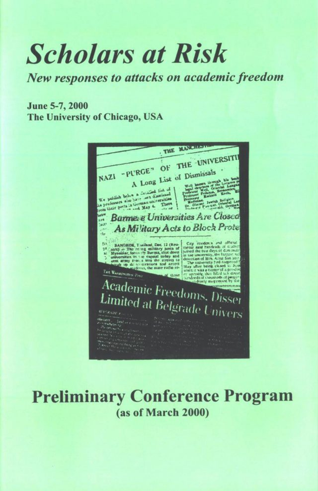 SAR's Founding Conference at the University of Chicago