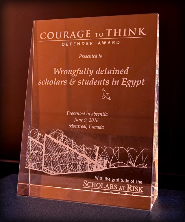 2016 Courage to Think Defender Award