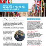 Academic Freedom Legal Clinics Flyer