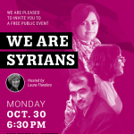Skirball Talks: We Are Syrians