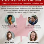 Student advocacy initiatives in the spotlight:  Experiences from four Canadian Universities