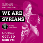 SAR & NYU Skirball: We Are Syrians Podcast with Laura Flanders