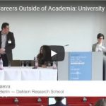 Looking for Careers Outside of Academia: University Advisory Services on Qualifications & Technology Transfer (Panel)