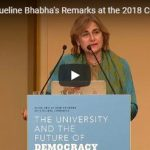 Prof. Dr. Jacqueline Bhabha's Remarks at the 2018 Courage to Think Award Dinner