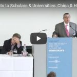 Current Threats to Scholars & Universities: China & Hong Kong