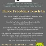 Three Freedoms Teach-In at Wheaton College, MA