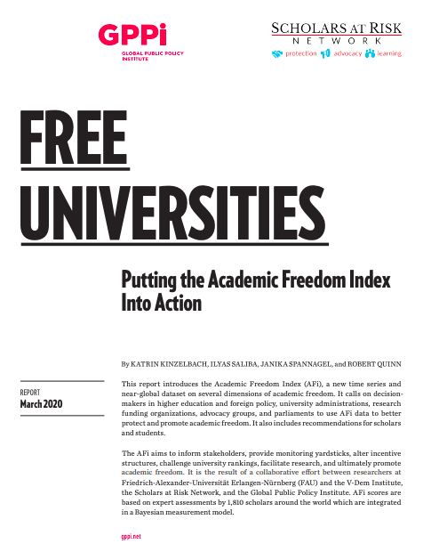 Free Universities: Putting the Academic Freedom Index Into Action