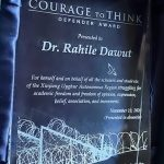 Rahile Dawut honored with Courage to Think Award