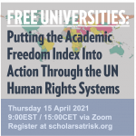 Free Universities: Putting the Academic Freedom Index Into Action Through the UN Human Rights Systems
