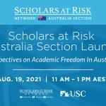 Scholars at Risk August 2021 Newsletter
