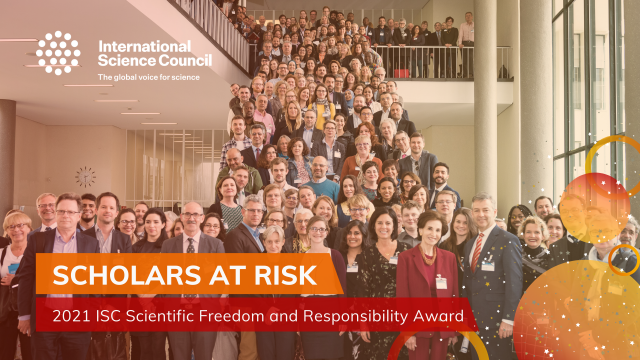 Scholars at Risk awarded the 2021 International Science Council Scientific Freedom and Responsibility Award